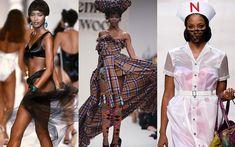 """ナオミ・キャンベルが49歳に! """"異次元""""スーパーモデルの伝説的ランウェイルック Runway, Dresses, Fashion, Cat Walk, Vestidos, Moda, Walkway, Fashion Styles, Dress"""