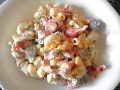 Tésztasaláta Hungarian Recipes, Hungarian Food, Pasta Salad, Salads, Recipies, Food And Drink, Meals, Ethnic Recipes, Kitchen