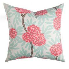 Family room option Caitlin Wilson Textiles: Mint Fleur Chinoise Pillow