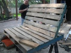 pallet swing, diy, pallet, repurposing upcycling, woodworking projects, We cut down the back