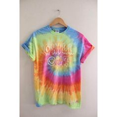 Chill Out Pastel Tie-Dye Graphic Unisex Tee by oliviaroseinc