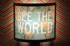 28 Inspiring Decor Ideas To Satisfy Your Wanderlust - globe & map ideas via Buzzfeed
