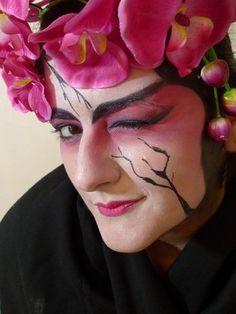 Geisha makeup & stylisation , foto Dorota LIPINSKA