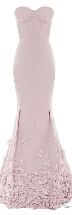 Nina Ricci ● Resort 2014, Floral-Appliquéd Taffetta Gown