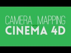 Camera Mapping With Cinema 4D - YouTube