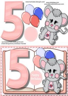 Birthday Girl Book Card on Craftsuprint - Add To Basket! 5th Birthday Girls, 3d Sheets, Kid N Teenagers, 3d Cards, Quick Cards, Book Girl, 3d Paper, Card Maker, Paper Piecing