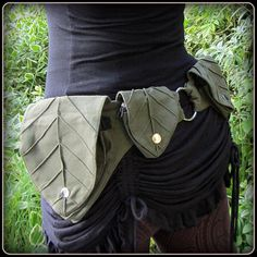 Leaf Utility Pocket belt  Forest Festival Belt by TalismanaDesigns, $52.00