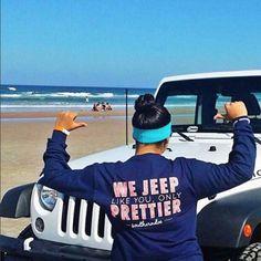 Jeep like the boys, but prettier! Jeep Life + Beach = Love