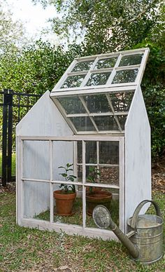 I guess I should have known the difference, I'm sure many of you in the colder climes surely know the difference…but all along I've been calling my newest build a 'Greenhouse', when in fact, it's a Cold Frame. The difference between the two is simple, a g Old Window Greenhouse, Diy Greenhouse Plans, Outdoor Greenhouse, Outdoor Gardens, Cheap Greenhouse, Diy Small Greenhouse, Portable Greenhouse, Veggie Gardens, Greenhouse Gardening