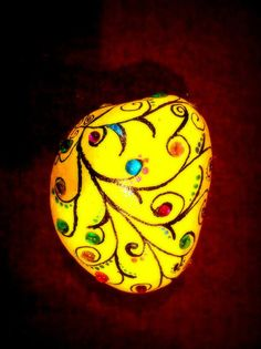 Custom hand Painted Rocks/painted stone/Dragon by OmArtCreations, $10.00