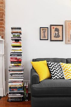Nice space, love the book stack.