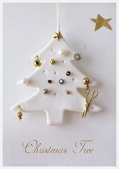 Christmas Tree from polymer clay. Maybe make as a earring holder?