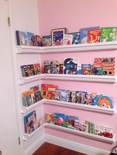 Great idea for Bookshelves!! Made out of shutters! Best idea ever! My daughter is loving it!