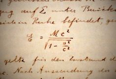 The First E=MC^2 | The first occurrence of Einstein's E=MC^2… | Flickr