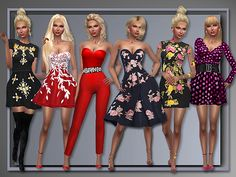Sims 4 CC's - The Best: Dresses by ALLAboutStyle