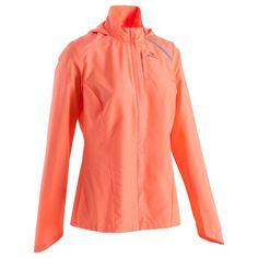 Running_chaussures Vêtements - Textile de running femmes veste coupe vent ekiden orange KALENJI - Haut du corps