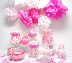 Poppin' in Pink Candy Buffet - Candy Buffet 101