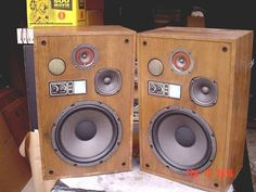 """motown classic 70's large 3-way 12"""" stereo speakers refurbished from $110.0:"""