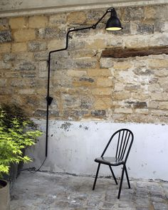 Floor standing lamp / original design / outdoor / steel - N°217 XL IN AND OUT - DCW éditions