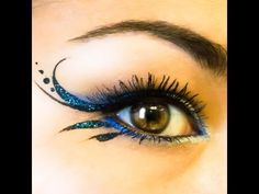 "Glitter Gorgeous Simple Liner & ""Blue Irises' NYX - YouTube"