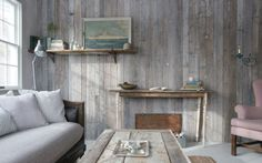 Love this antiquated wood wall!