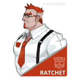 I just love Ratchet so much.dont look at me Dad bod. Original Transformers, Transformers Characters, Transformers Bumblebee, Transformers Prime, Optimus Prime, Transformers Humanized, Robot Concept Art, Character Base, Terraria