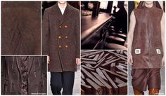 Top Color, Menswear Market, F/W 2015-16, CHERRYWOOD (Landscape Tones)Brown remains the new grey, meaning a key neutral. With hints of rich red, cherrywood is a beautiful complement to ivory and charcoal grey. Perfect for suede, leather, and suiting, it is a sophisticated new option for F/W.