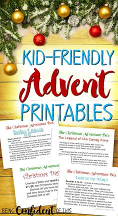 Want to keep Christ at the center of your family Christmas?  These printables make kid-friendly Advent easy! The Christmas Adventure Box is a fun, frugal, and kid-friendly activity for advent that will teach your children the true reason for celebrating the Christmas season!  Learn the spiritual significance behind some of our favorite Christmas traditions, such as Christmas trees, lights, stockings, and even candy canes!