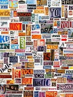 Ransom Notes - practice building sentences with your TEFL class.