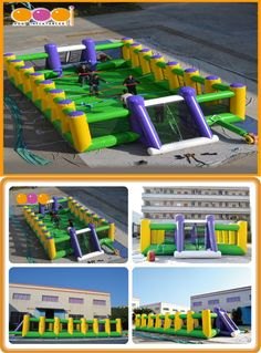 AQ1806-15 (14*7*2.5M  45.93'*22.97'*8.20') Outdoor or indoor football court!! Love this inflatable football games by AOQI.