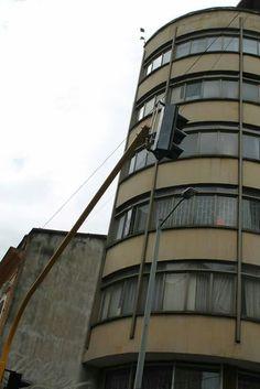 Un semáforo cualquiera en el centro de Bogotá...