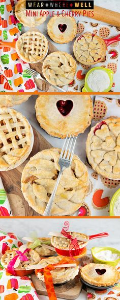 Wear + Where + Well : check out these cutie pies! Mini apple and cherry pies are perfect for the holidays.