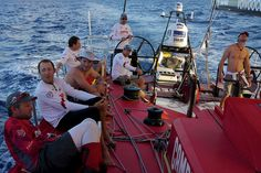 The CAMPER with Emirates Team New Zealand crew during leg 6 of the Volvo Ocean Race 2011-12