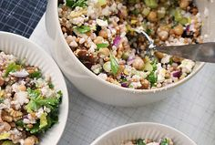 Barley & Wheat Berry Salad with Chickpeas and Feta, used fresh dill and apple vinegar ( with lingon berry juice ( IKEA)) Recipe keeper