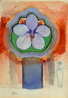 Odilon Redon, Strange Orchid, n.d.