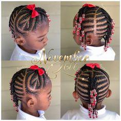 Braids for Kids- 50 Kids Braids with Beads Hairstyles Little Girl Braid Styles, Little Girl Braid Hairstyles, Toddler Braided Hairstyles, Little Girl Braids, Baby Girl Hairstyles, Natural Hairstyles For Kids, Black Women Hairstyles, Kids Braids With Beads, Braids For Kids