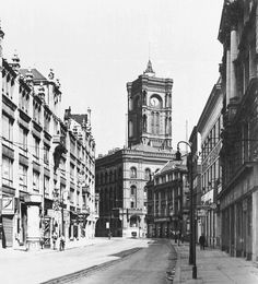 Berlin 1931 Spandauerstrasse Blickrichtung Rotes Rathaus