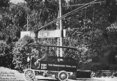 1914 Trackless Trolley Taking Guest To Bungalow Inn At Laurel Canyon And Lookout Mountain Blvd.