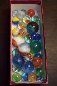 Glass Toy Marbles  - I remember taking these to school to play with my friends!