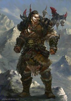 Half-orc (Possibly North Gaeaf Warrior)