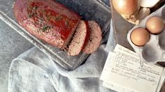 Super easy meatloaf! Made with Hidden Valley ranch dressing mix.