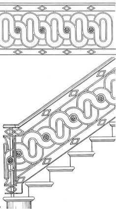 Stair Railing Design Drawings: Inspirations For You Balcony Or Bannister Staircase Railing Design, Interior Stair Railing, Balcony Railing, Iron Balcony, Iron Handrails, Wrought Iron Stair Railing, Stair Handrail, Balcony Glass Design, Grill Door Design
