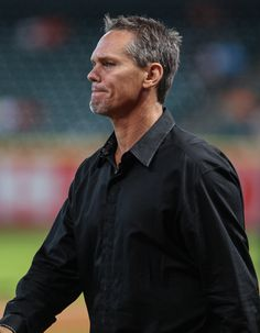 CrowdCam Hot Shot: Houston Astros former player Craig Biggio walks onto the field before a game against the Cincinnati Reds at Minute Maid Park. Photo by Troy Taormina