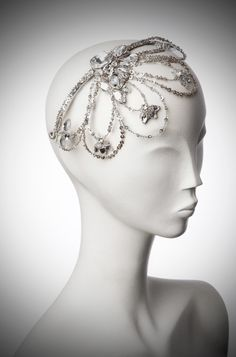 Another view of the headpiece I'm making... I will also have a bit of veil to make a birdcage style veil.