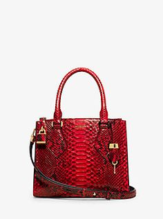 9ae0a0cce4b58 Casey Small Python Satchel by Michael Kors Micheal Kors Bags