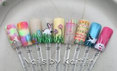 Easter Artificial Nail Art