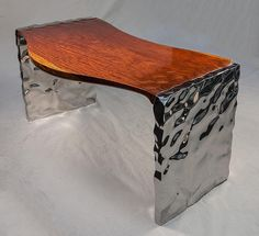 Born in Rado Kirov is a Bulgarian artist well-known for his hybrid creations. His passion for the work of stainless steel lead him to combine this materia Iron Furniture, Steel Furniture, Furniture Plans, Modern Furniture, Furniture Design, Unusual Furniture, Custom Woodworking, Woodworking Projects Plans, Cool Coffee Tables