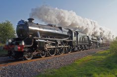 Steam train chugging along.  Visit our website to order the Lots & Lots of Trains DVDs!