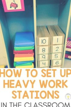 How to set up calm down heavy work stations in the self-contained special education classroom to help kids with sensory, autism, or behavior issues with items you already have sensory specialeducation OT 60094976263427228 Autism Classroom, Special Education Classroom, Classroom Setup, Kids Education, Physical Education, Education Quotes, Texas Education, Education City, Special Education Activities