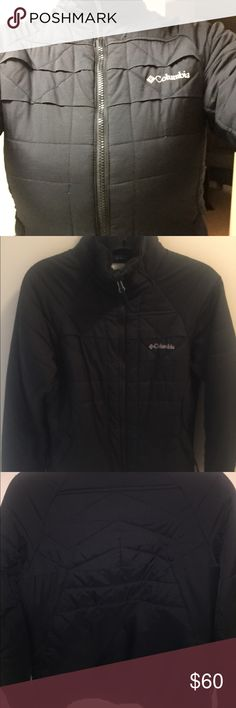 Columbia Jacket Lightweight puffer Fall/Winter Jacket  Very warm! Small 🐢 neck  Inside pocket - pretty big, used to fit my phone and a wallet in times of not wanting to carry a purse  Contours body well Soft, pillow like lining around neck   • Pet free and smoke free home 🏡  • Same day postal drop Columbia Jackets & Coats Puffers
